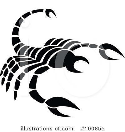 Black And White Zodiac Clipart #100855 by cidepix