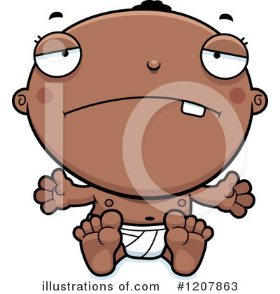 Black Baby Clipart #1207863 by Cory Thoman