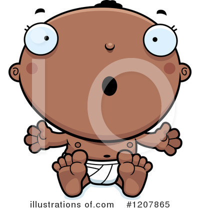 Black Baby Clipart #1207865 by Cory Thoman