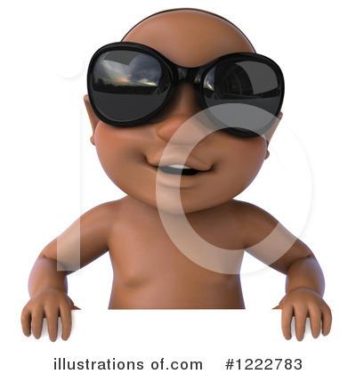 Black Baby Clipart #1222783 - Illustration by Julos