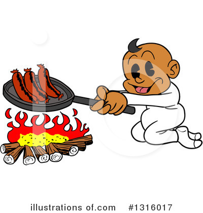 Campfire Clipart #1316017 by LaffToon