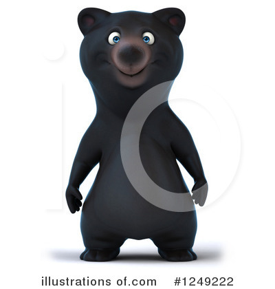 Black Bear Clipart #1249222 by Julos