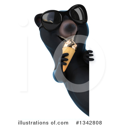 Royalty-Free (RF) Black Bear Clipart Illustration by Julos - Stock Sample #1342808