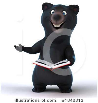 Royalty-Free (RF) Black Bear Clipart Illustration by Julos - Stock Sample #1342813