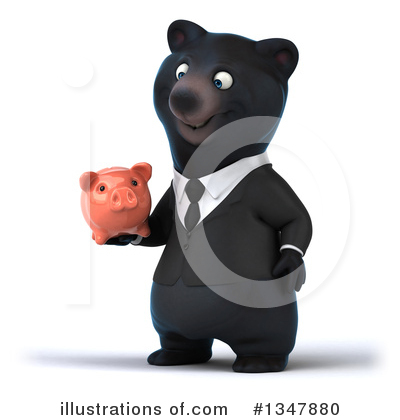 Black Bear Clipart #1347880 by Julos