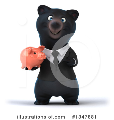 Black Bear Clipart #1347881 by Julos