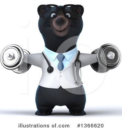 Black Bear Doctor Clipart #1366620 by Julos