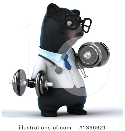 Black Bear Doctor Clipart #1366621 by Julos