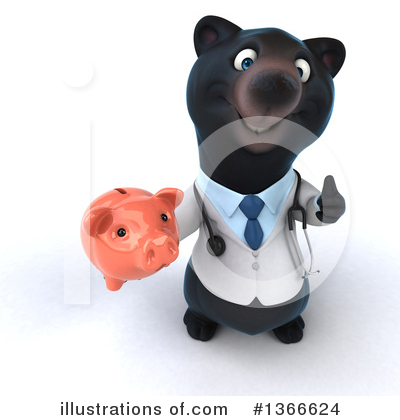 Black Bear Doctor Clipart #1366624 by Julos