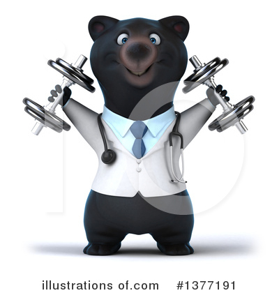 Black Bear Doctor Clipart #1377191 by Julos