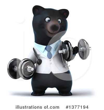 Black Bear Doctor Clipart #1377194 by Julos