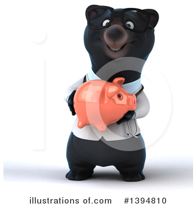 Black Bear Doctor Clipart #1394810 by Julos