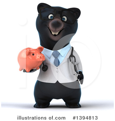 Black Bear Doctor Clipart #1394813 by Julos