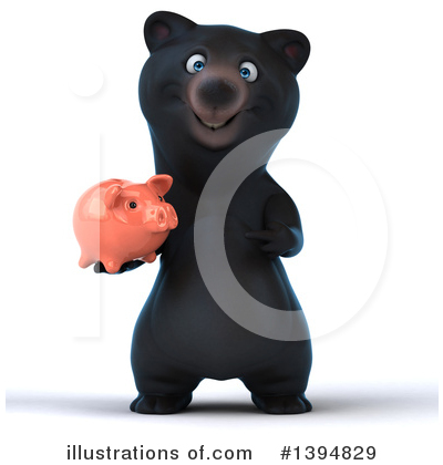 Black Bear Clipart #1394829 by Julos
