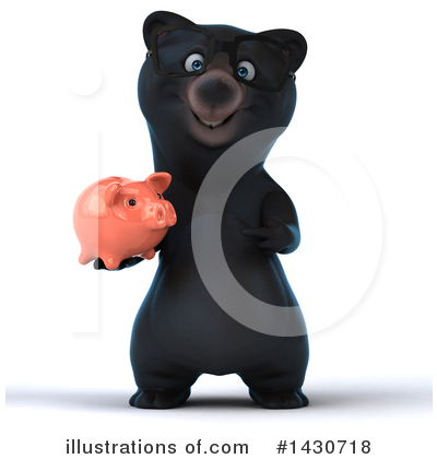 Black Bear Clipart #1430718 by Julos
