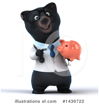 Black Bear Doctor Clipart #1430722 by Julos