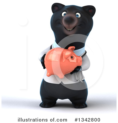 Black Bear Clipart #1342800 by Julos