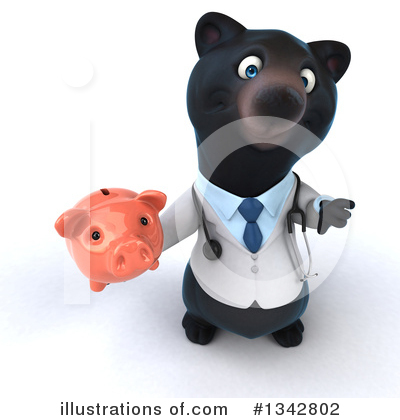 Black Bear Doctor Clipart #1342802 by Julos