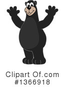 Black Bear School Mascot Clipart #1366918