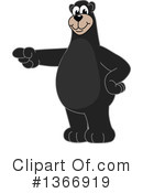 Black Bear School Mascot Clipart #1366919 by Toons4Biz