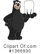 Black Bear School Mascot Clipart #1366930 by Toons4Biz