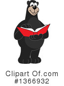 Black Bear School Mascot Clipart #1366932 by Toons4Biz