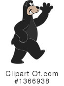 Black Bear School Mascot Clipart #1366938 by Toons4Biz