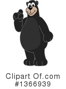 Black Bear School Mascot Clipart #1366939 by Toons4Biz