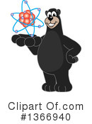 Black Bear School Mascot Clipart #1366940 by Toons4Biz