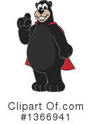 Black Bear School Mascot Clipart #1366941 by Toons4Biz