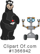 Black Bear School Mascot Clipart #1366942 by Toons4Biz