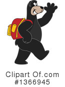 Black Bear School Mascot Clipart #1366945 by Toons4Biz
