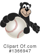 Black Bear School Mascot Clipart #1366947 by Toons4Biz