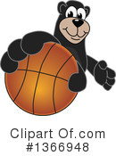 Black Bear School Mascot Clipart #1366948 by Toons4Biz