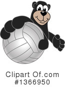 Black Bear School Mascot Clipart #1366950 by Toons4Biz