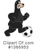 Black Bear School Mascot Clipart #1366953 by Toons4Biz