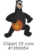 Black Bear School Mascot Clipart #1366954 by Toons4Biz