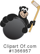 Black Bear School Mascot Clipart #1366957 by Toons4Biz