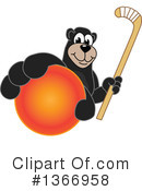 Black Bear School Mascot Clipart #1366958 by Toons4Biz