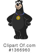 Black Bear School Mascot Clipart #1366960 by Toons4Biz