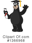 Black Bear School Mascot Clipart #1366968 by Toons4Biz