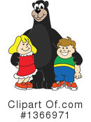 Black Bear School Mascot Clipart #1366971 by Toons4Biz