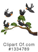 Black Bird Clipart #1334789 by Graphics RF