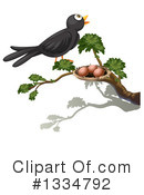 Black Bird Clipart #1334792 by Graphics RF