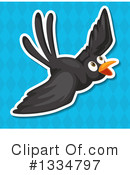 Black Bird Clipart #1334797 by Graphics RF
