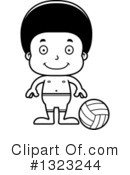 Black Boy Clipart #1323244 by Cory Thoman