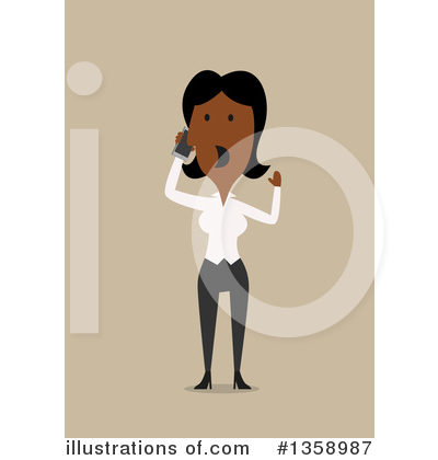 Black Businesswoman Clipart #1358987 by Vector Tradition SM