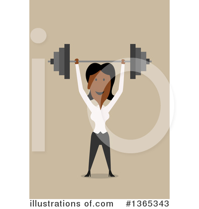Black Businesswoman Clipart #1365343 by Vector Tradition SM