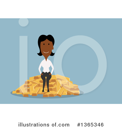 Black Businesswoman Clipart #1365346 by Vector Tradition SM