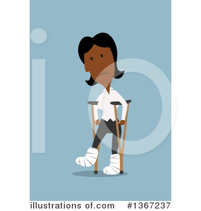 Black Businesswoman Clipart #1367237 by Vector Tradition SM